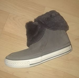 CONVERSE Fold Over Furry Top Boot sneaker Kids 3